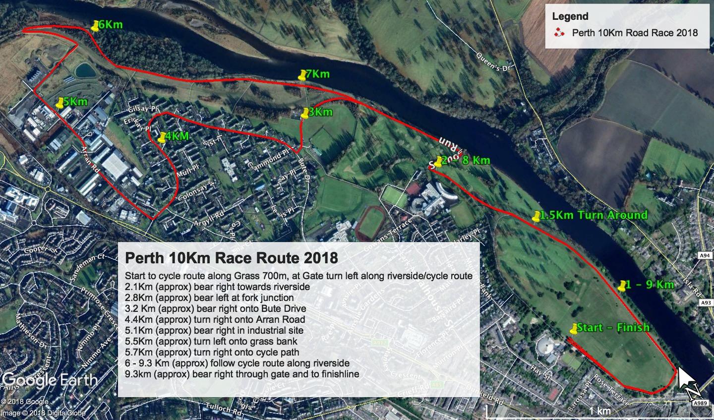 Perth 10k Route